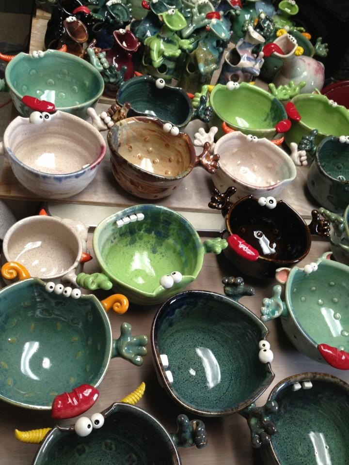 These guys pretty much do what I do, but much better. Claymonster Pottery from Maryland
