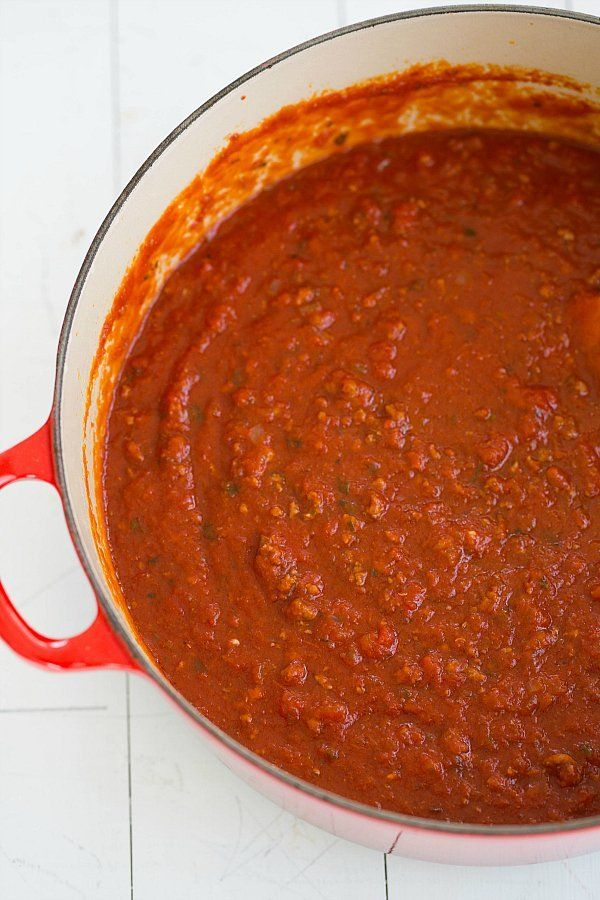 The Best Meat Sauce. EVER. @FoodBlogs