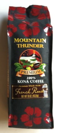 Hawaiian Mountain Thunder 100% Kona coffee 1 Pound