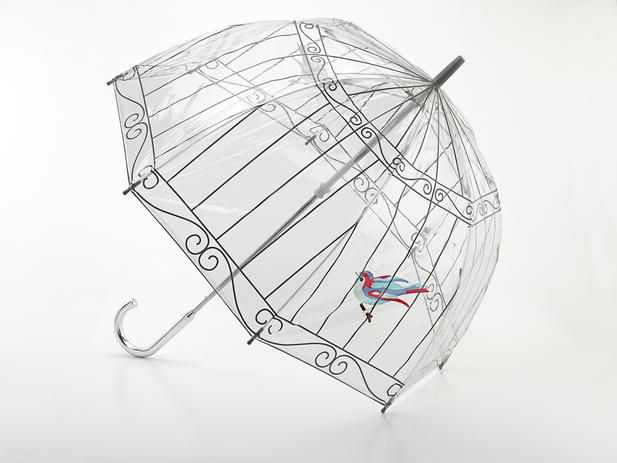 Lulu Guinness Bluebird Birdcage Umbrella