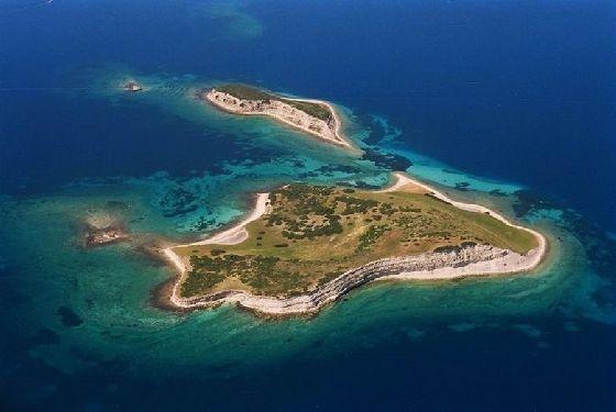 Tokmakia islands by Lesvos island, Aegean, Greece