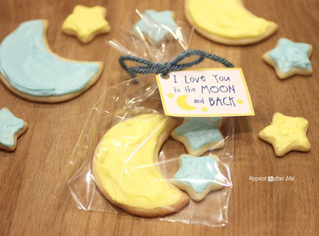 Repeat Crafter Me: I Love You to the Moon and Back Cookies