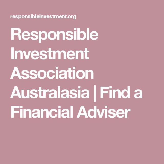 Responsible Investment Association Australasia |   Find a Financial Adviser