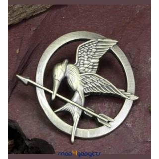 """Καρφίτσα Κοτσυφοκισσα (Mockingjay pin) - Αγώνες Πείνας (Hunger Games)  Το σύμβολο της ταινίας, """"The Hunger Games"""", η καρφίτσα με την Κοτσυφοκισσα (Mockingjay) για τους φανς της ταινίας. Αυθεντικό προϊόν της ταινίας σε χρώμα antique-χρυσού  #mad4gadgets #hungergames #agonespeinas"""