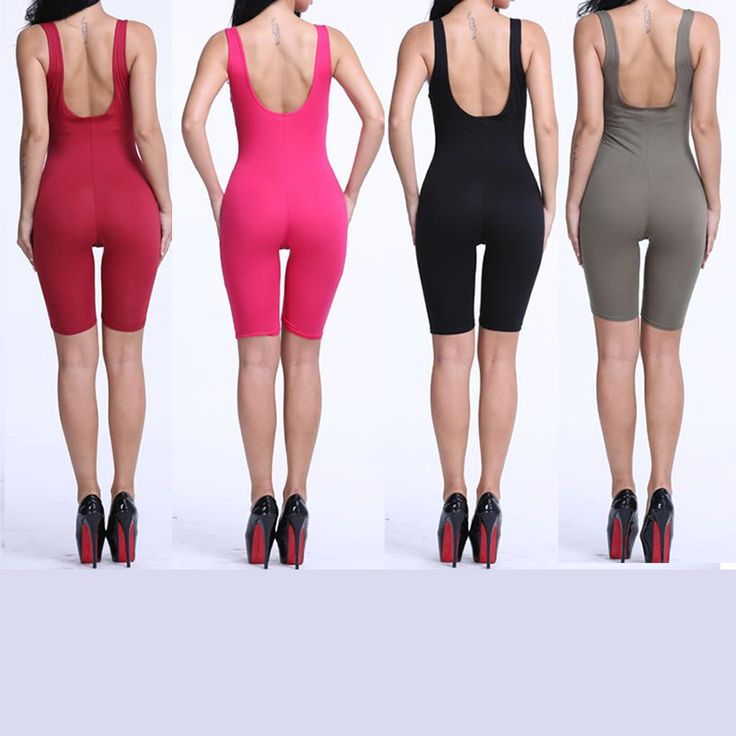 Find More Jumpsuits & Rompers Information about Women's Summer Solid Cotton Sexy Bodycon Backless Bodysuit Girls Sleeveless Skinny Sport Short Jumpsutis Rompers Playsuits,High Quality romper playsuit,China playsuit romper Suppliers, Cheap playsuits sale from Riky_mall on Aliexpress.com
