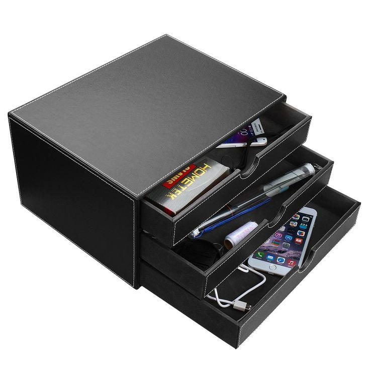 Amazon.com : HOMETEK Multi-functional 3 Drawer Leather