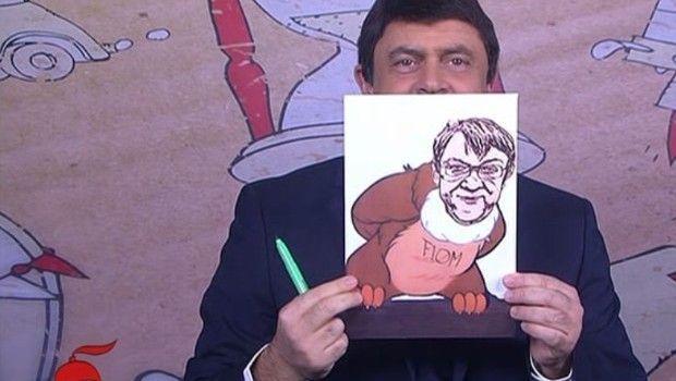 Il comico genovese torna anche questa settimana in apertura del talk show di Floris.