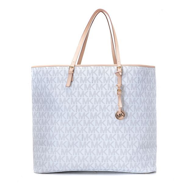Michael Kors Jet Set Logo Macbook Travel Large Tote Vanilla Products  Description * Vanilla MK logo