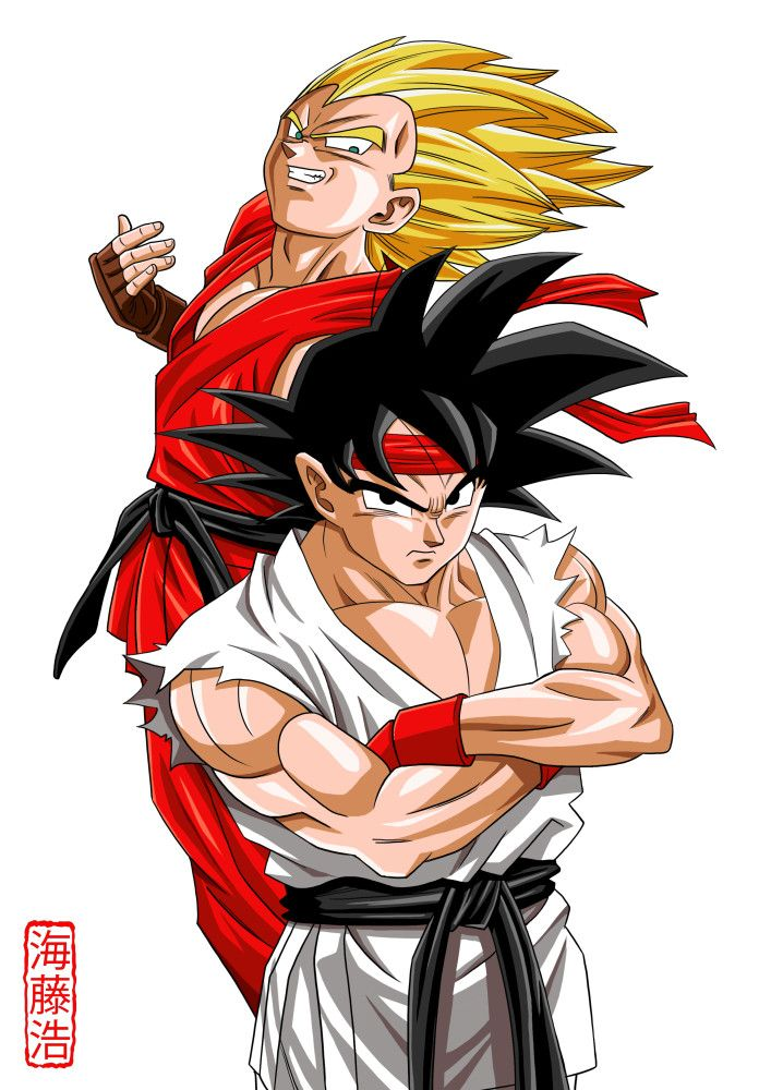 Goku and Vegeta/ Street Fighter