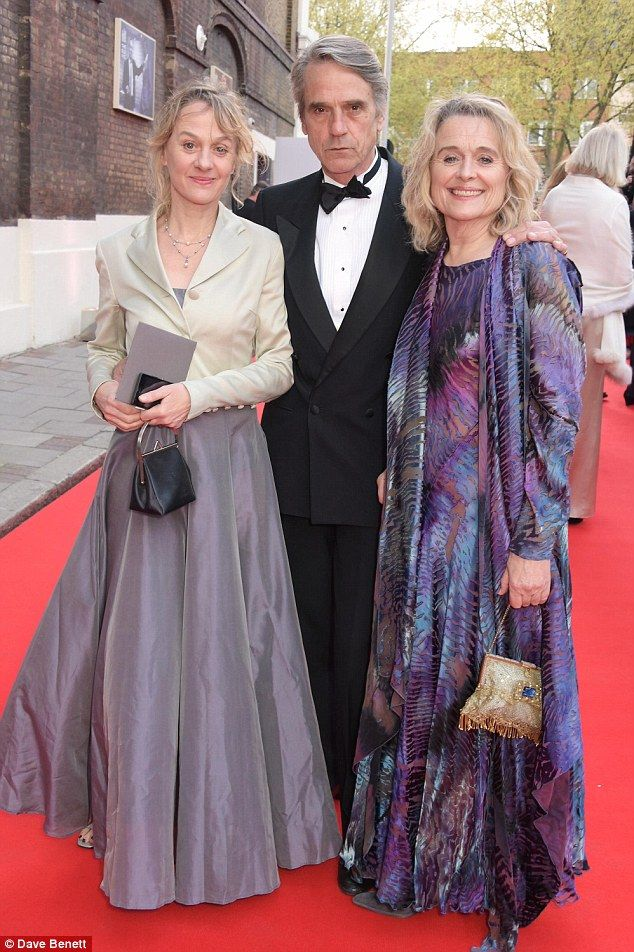Main man: Jeremy Irons was joined by his wifeSinead Cusack (right) and her sisterNiamh C...