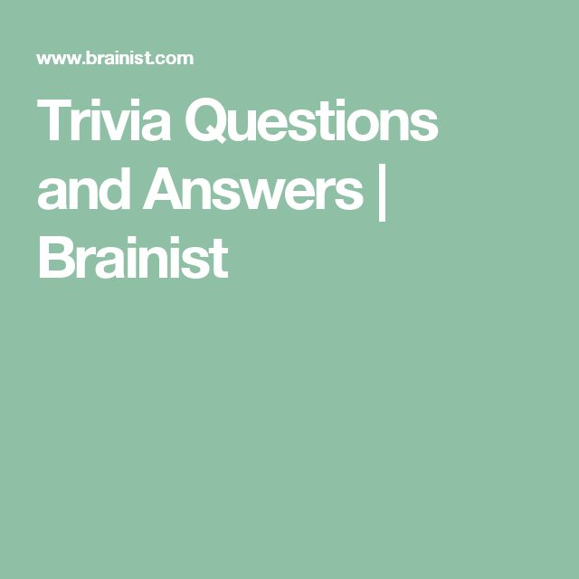 Best 25+ Trivia Questions Ideas On Pinterest