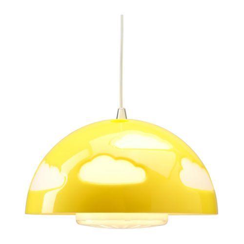 SKOJIG Candeeiro suspenso IKEA Segurança testada e com proteção para os dedos das crianças. Fornece uma boa iluminação geral.