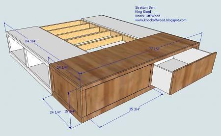 bed storage diy