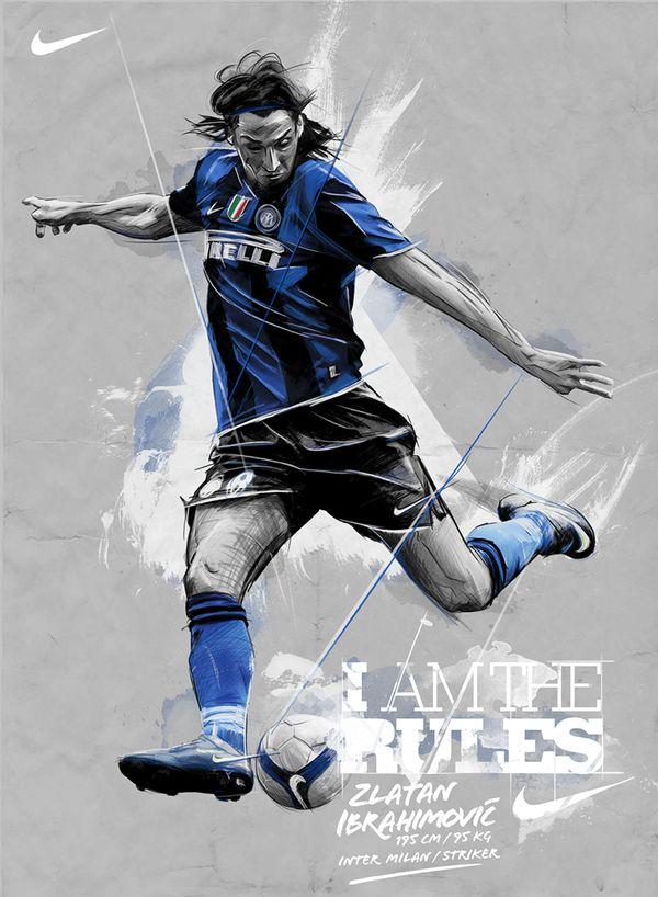 Zlatan Ibrahimovic Nike ad by Andre Pessel, via Behance