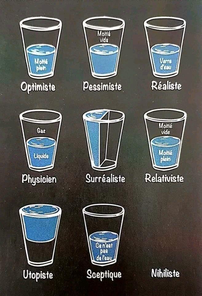 Illustration – Différentes manières de voir la vie – #Ichdenkandichsprüche #S…