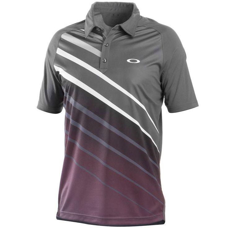 Oakley Tiger Stripe Golf Shirt Shadow