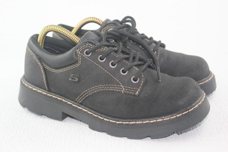 Ladies Skechers Bleack Leather Lace Ups SN45120 Preowned Size 8 #SKECHERS #Oxfords #Casual