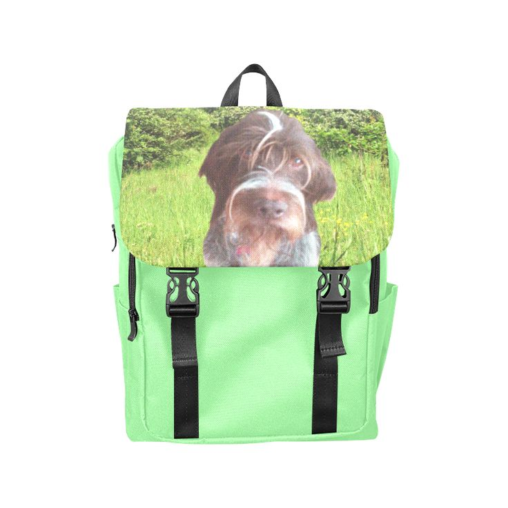 Dog and Flowers Casual Shoulders Backpack. FREE Shipping. #artsadd #lbackpacks #dogs