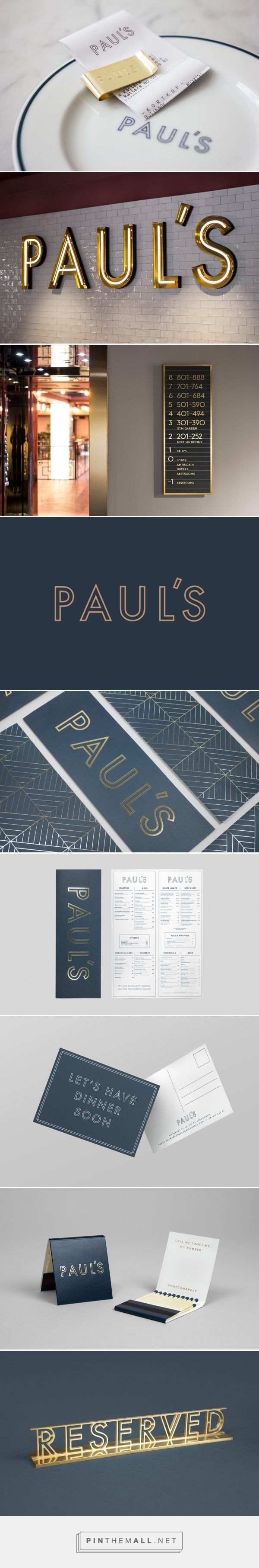 New Brand Identity for Paul's at Haymarket by 25AH