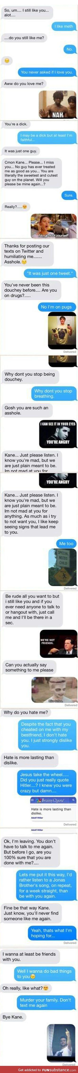 How to deal with a b*tch ex-gf....takes forever to read but omg hilarious