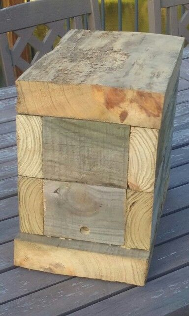 Reclaimed wooden native beehive