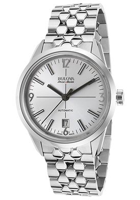 69% Off Bulova Accu-Swiss Men's Murren Automatic Stainless Steel Silver-Tone Dial Watch