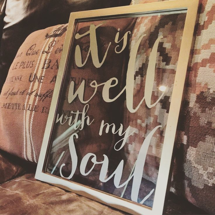 It Is Well Window Sign by GivingInGrace on Etsy https://www.etsy.com/listing/241848664/it-is-well-window-sign