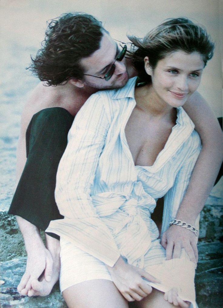 Harper's Bazaar - Helena Christensen & Mickaël Hutchence {INXS} - 1994