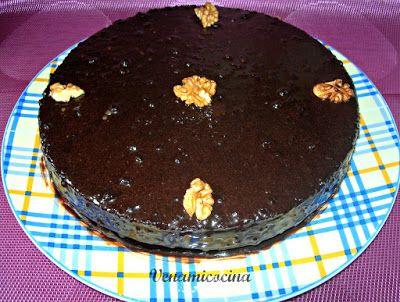 Tarta de chocolate y nueces