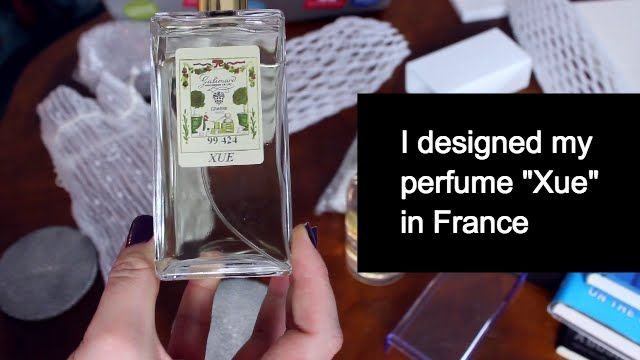 "My own signature custom perfume ""Xue"" from France. Design your own perfume. Make a custom perfume. How to make a perfume."