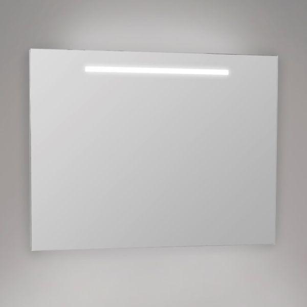 Eco led-valopeili 800x600, joka on saatavana myös koossa 600x600. IP44, jolloin peili sopii hyvin myös kylpyhuoneeseen. Valoteholtaan 9W ledmoduuli vastaa 13W loisteputkea. Peilin valon väri valkoinen 4200K. #eco #valopeili #ledvalopeili #gripshop #kylpyhuone