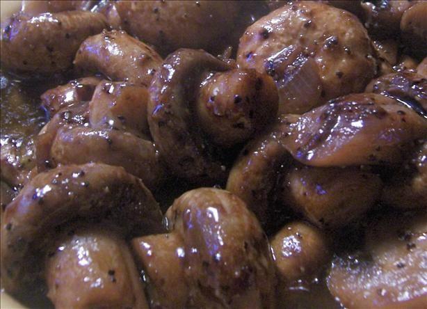 Steak and Ale Sauteed Mushrooms.