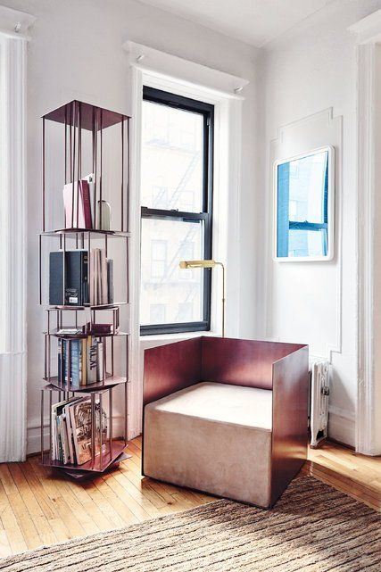 bookcase  and an uncomfortable chair    The Man Designing Spaces for the Instagram Age - The New York Times