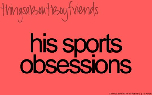 But I find it cute cause I love sports