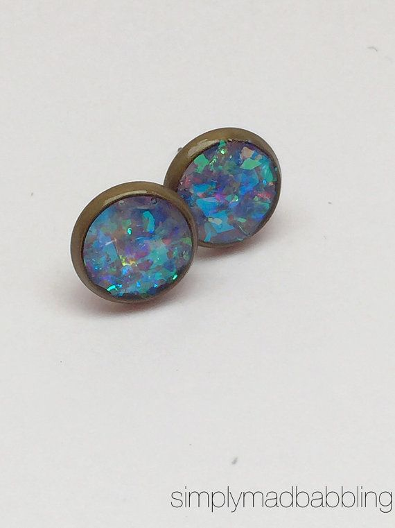 $4.00. Swarovski Like Earrings. Resin Earrings. Beautiful Inexpensive Christmas Gift! by simplymadbabbling.