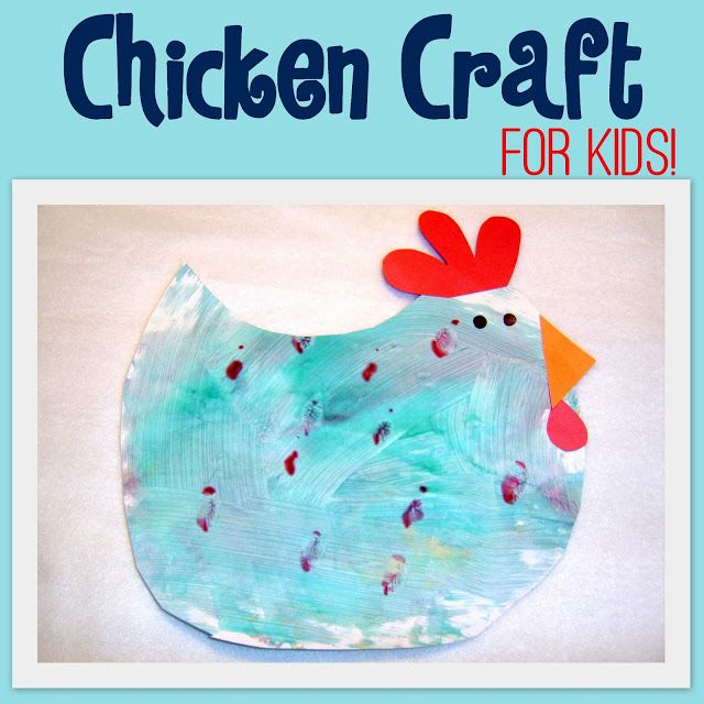 """Fun chicken craft for preschoolers! Can also go along with the book, """"Cluck O' Clock,"""" by Kes Gray."""