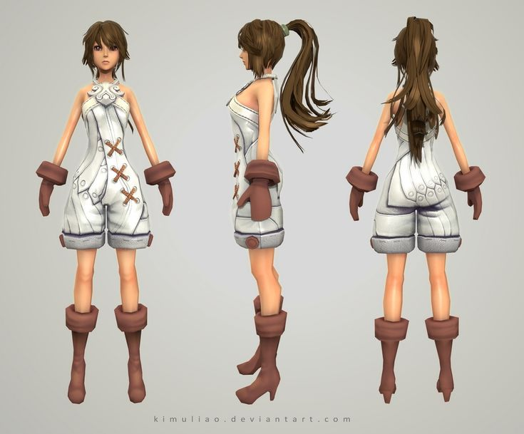 3d Character Design Course : D female character practicing by kimuliao blueprints