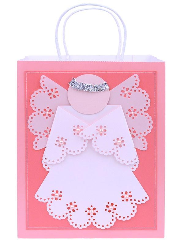 Martha Stewart Christmas Craft Ideas Part - 33: Martha Stewart Crafts Angel Gift Bag #christmas #kids #crafts