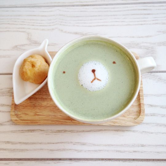 green tea latte//