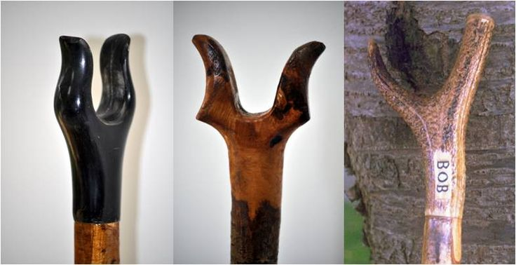 Thumbsticks: Plain £80.00 plus p&p, 6 weeks to deliver  With hall-marked sterling silver collar, engraved to your specifications—£140.00 plus p&p, 6 weeks to deliver  Handles can be made from plain wood, polished buffalo horn or deer-antler