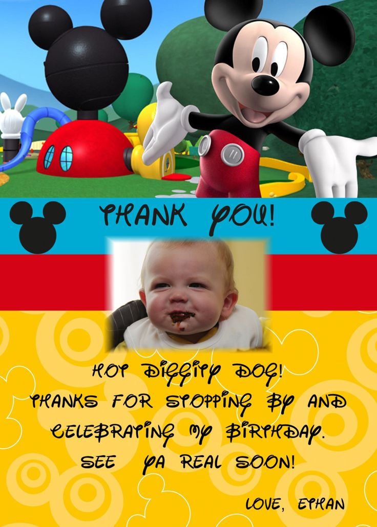 Mickey thank yous
