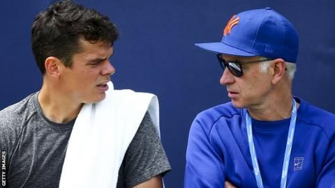 Milos Raonic: Wimbledon finalist and coach keen to keep John McEnroe