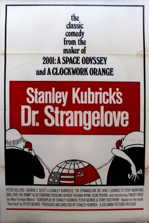"Dr Strangelove Stanley Kubrick Tomi Ungerer, 1972 - original vintage movie poster By Tomi Ungerer for the classic comedy, Stanley Kubrick's Dr Strangeglove (aka ""Dr. Strangelove or: How I Learned to Stop Worrying and Love the Bomb""), starring Peter Sellers as Dr. Strangelove and George C. Scott as General 'Buck' Turgidson, listed on AntikBar.co.uk"