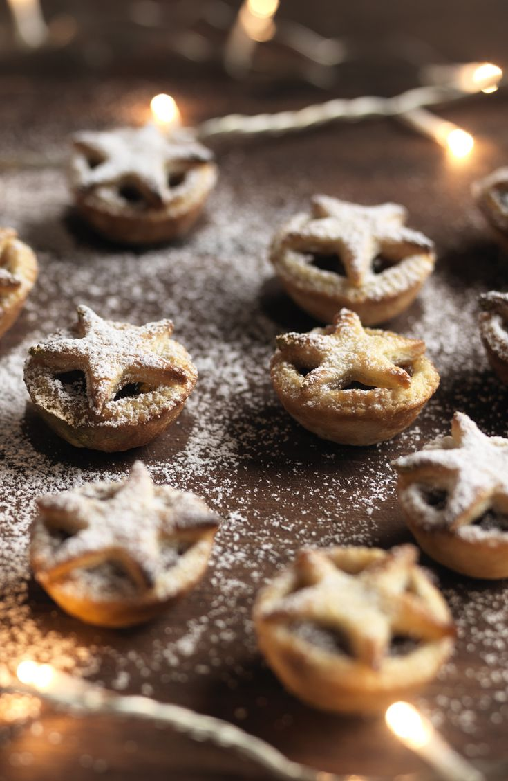 Make your mince pies extra twinkly with starry lids and a bit of Nigella sparkle.