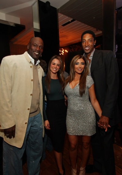 """GREATEST STORY EVER?  Michael Jordan showed up to Scottie Pippen's 47th Birthday party and wore his customary awful jacket, and gigantic jeans, though that's not the important part…  Via the NY Post    Sources told us the fun night ended with a dance-off between Jordan and Pippen to the Trey Songz and Fabolous song, """"Say Ahh.""""    I mean, I should repost this every day until I die so it stays on the front page of this site.  #GotEmCoach"""