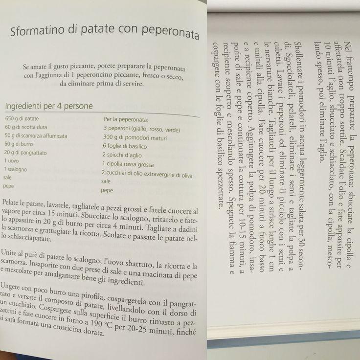 Sformatino di patate e peperonata