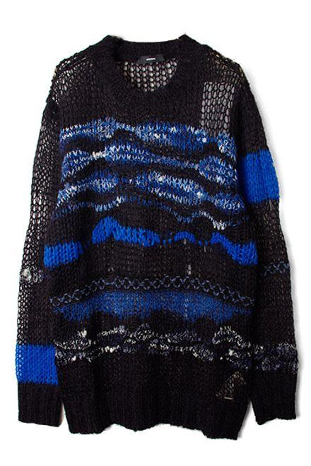 【DIESEL】Knitwear/Black×Blue   LADY'S,TOPS     FAKE TOKYO.com