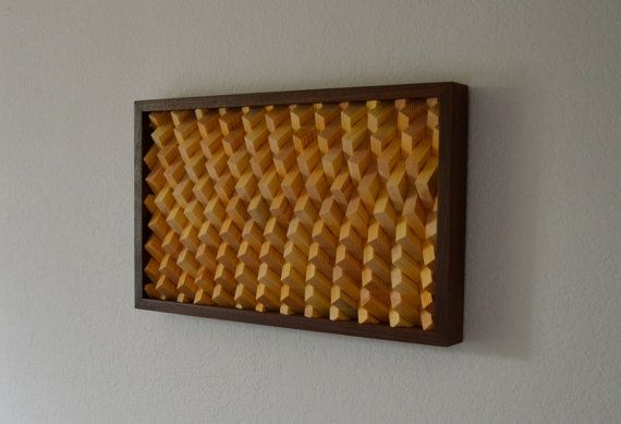 Wood Wall Art  Angular Curves by moderngeometrics on Etsy, $400.00