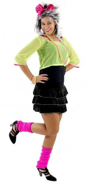 <p>Party-Alarm! In diesem Dress rocken Sie jede Bühne - oder jede Tanzfläche! Selbst, wenn Sie nur an der Bar stehen, hauen Sie in diesem fantastischen 80er-Disco-Kostüm alle vom Hocker! Das geniale 80s-Outfit für die kommende Achtziger Jahre Motto-Party würde sogar einem Popstar gerecht werden!</p> <p>Lieferumfang: Kleid, Netzshirt und Haarreif mit Schleife</p> <p>Material: 100% Polyester</p> <p>Größe: S, M, L</p>