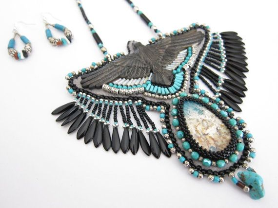 Hey, I found this really awesome Etsy listing at https://www.etsy.com/listing/155641994/sale-the-raven-bib-necklace